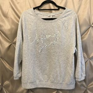 VS Gray Sweatshirt Pullover CrewNeck Bling Sequins